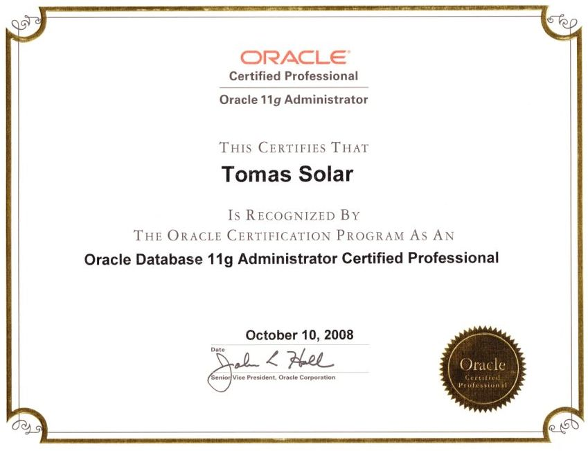 Training and Oracle courses from experienced specialist - Database ...